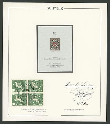 SWITZERLAND No 1 REPRINT UPU CONGRESS 1984 OFFICIAL DELEGATE GIFT!! RARE!! z2590