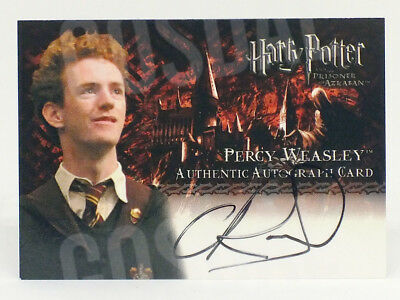 Harry Potter Prisoner of Azkaban Chris Rankin as Percy Weasley Autograph Card