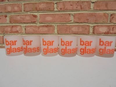 6 MCM Mid Century Modern Morgan Bar Glass Tumblers Old Fashioned All Orange