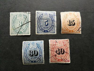 Russia,old Russian fiscal stamps St Petersburg Police 1885,full set