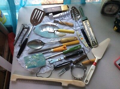 Vintage Lot Kitchen Utensils Androck - Foley -Ekco Plus More