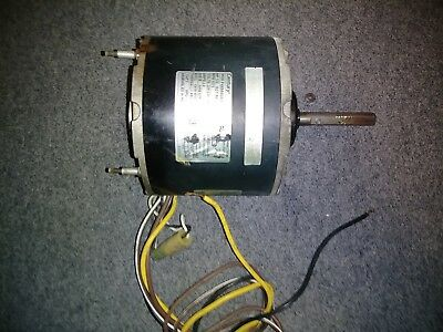 Blower Motor, Century Type F48M40A01 1/3 HP 230 VAC 1075 RPM Frame 48 Shaft 1/2""