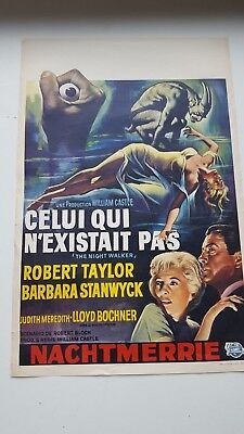 The Night Walker Belgian Movie Poster Barbara Stanwyck Robert Taylor