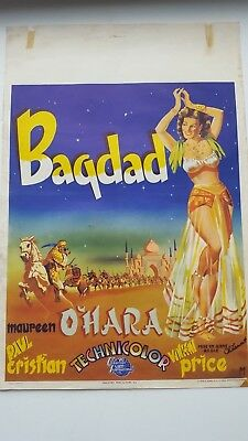 Bagdad Belgian Movie Poster Maureen O'hara Vincent Price