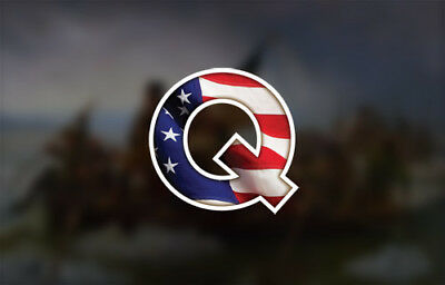 QANON DECAL BOGO Q ANON STICKER wwg1wga