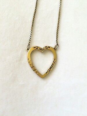 Vintage 1928 Heart Necklace