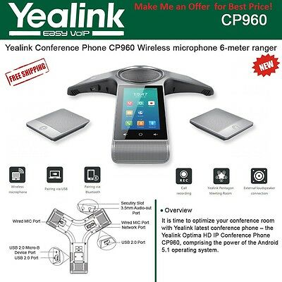 Yealink BUNDLE: 5 x CP960 w/ Mic's CPW90 OPEN BOX & 60 x T46S w/ Power adapters