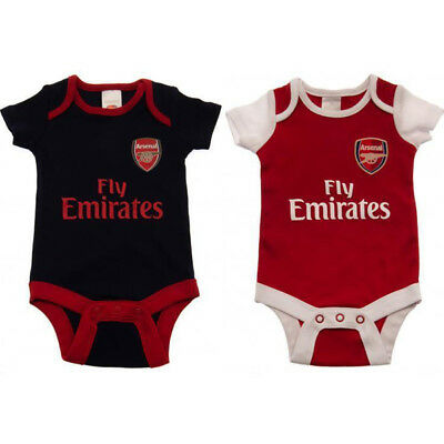 Arsenal Bodysuit 2 Pack 9/12 Months 18/19 Babygrow Fan Official Licensed Product