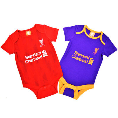 Liverpool Bodysuit 2 Pack 0/3 Months 18/19 Babygrow Official Licensed Product