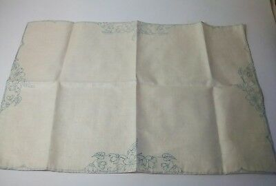 Vintage Linen Tray Cloth / Table Topper to Embroider