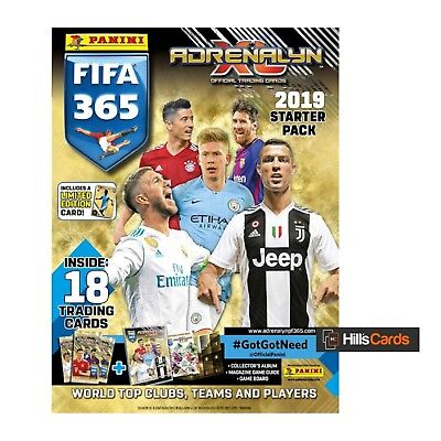 Adrenalyn XL Fifa 365 2019 Football Trading Cards - Starter Pack - Panini