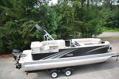 2485 Tmltz Cruise t pontoon boat with 60 and trailer