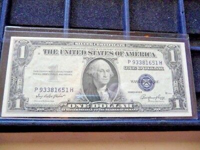 1935-E One Dollar Silver Certificate P93381651H In Circulated Condition I-24-18