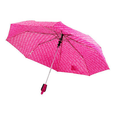 NEW Juicy Couture Pink Umbrella Ladies Folding Compact Telescopic Walking Brolly