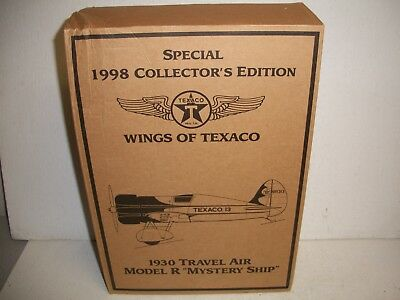 1998 Collectors Edition Wings of Texaco 1930 TRAVEL AIR MODEL R MYSTERY SHIP