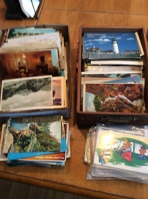 Vintage lot of postcards ~ 35 Random Postcards from the 1900 to '70s - Historic