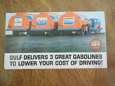 Vintage Gulf Gasoline Advertisement Ink Blotter
