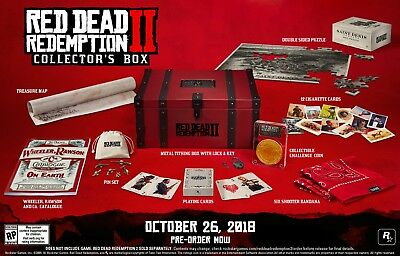 Red Dead Redemption 2 II Collector's Box  Xbox One or PS4 Preorder *No Game*