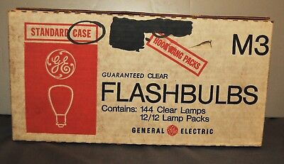 Ge General Electric M3 Flashbulbs 1 Case 144 Nos