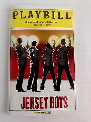 PLAYBILL 2009 JERSEY BOYS Bank Of America Theatre