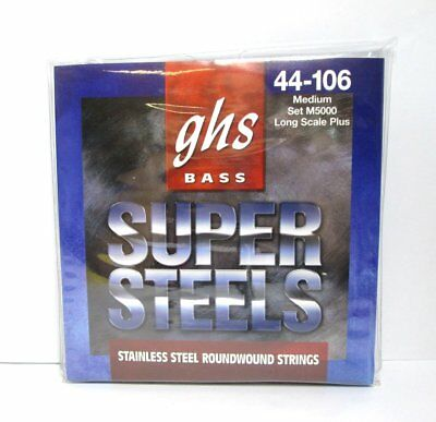 NEW GHS Bass 44-106 Medium M5000 Long Scale Roundwound Electric Guitar Strings
