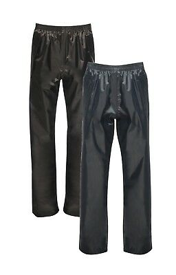 Childrens Kids Childs Boys Girls BLUE or BLACK Fully Waterproof Trousers