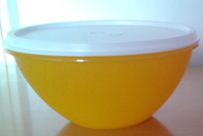 Tupperware Wonderlier Bowl 3-cup ~ Yellow w/ White Seal Brand New