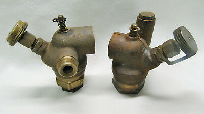 "Two HIT MISS CARBURETOR LUNKENHEIMER 3/4"" LH and Unknown Brass Cast Iron Carb"