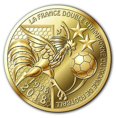 NOUVEAU ! jeton coupe du monde de football FIFA 2018 victoire France DISPONIBLE