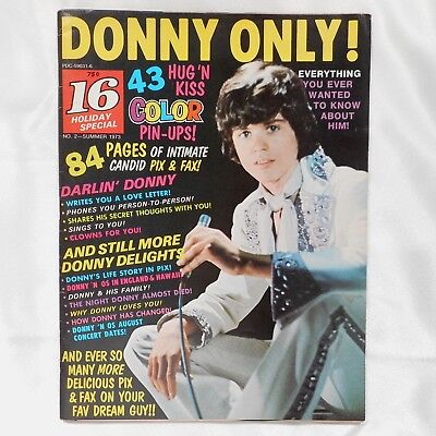 RARE VTG 70s Donny Only Magazine + Donny & Osmond Brothers Color Kiss Poster
