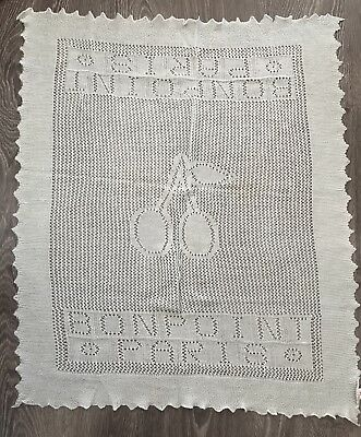 NEW NWT INFANT BONPOINT Ret $115 Chawl Blanket Gift Couverture Wool Cotton