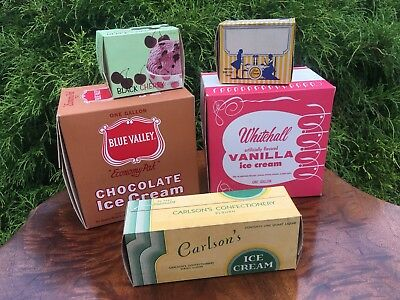 Group Of Vintage Ice Cream Containers Boxes Dairy Soda Fountain Advertising #4