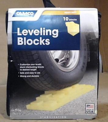Camco 44505 RV Leveling Blocks, Pack of 10 $61 - READ