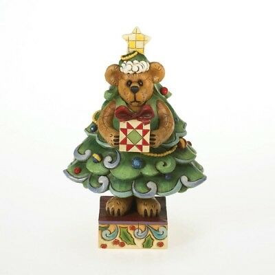 Boyds Bear Dressed as a Christmas Tree Figurine by Jim Shore, New in Box 4015159