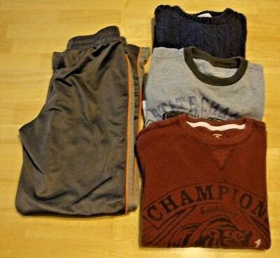 Lot of 4 ~Boy's Fall Clothes ~ Size 8~ 2 Tops, 1 Sweater , 1 Athletic Pants