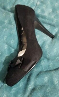 0c4278dce5fa NEW ANN TAYLOR size 6 shoes black satin strappy heels -  35.00 ...