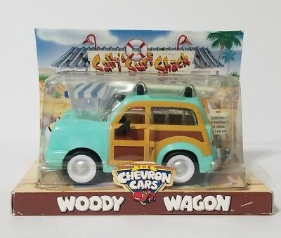 NIB 2003 Chevron Cars Gas Oil Petrol Woody Woodie Ford Beach Surf Wagon Toy Car
