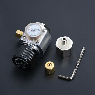 Silver 0-90PSI CO2 Keg Regulator Charger Kit Gas Injector Home Draft Beer Brew