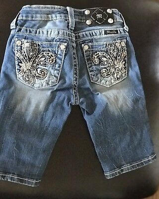 Girls Miss Me Jeans Bermuda Shorts, Size 10