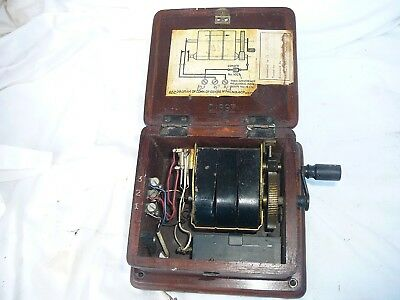 Vintage / Antique Timber Wall / Candlestick Telephone, Hand Crank Magneto