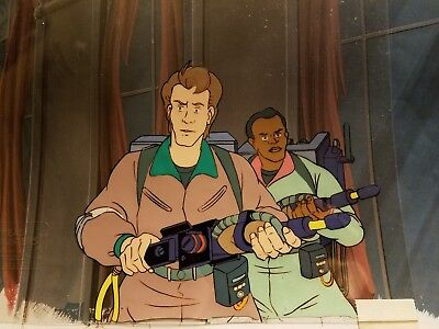 Original THE REAL GHOSTBUSTERS Production Animation Cel w/ Copy Background