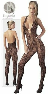 Mandy Mystery lingerie Catsuit Perle schwarz L/XL Overall Anzug Body Bekleidung