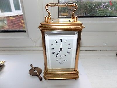 Thwaites & Reed 8 Day Platform Escapement Mechanical Wind Brass Carriage Clock