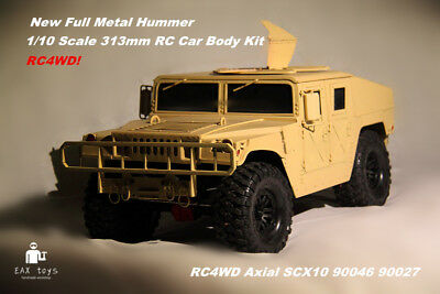 All Metal 313mm 1/10 Scale Hummer Military vehicles Axial SCX10 RC4W Body Parts