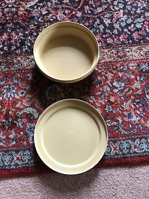 Tupperware Picnic Bowl/Plate with Lid Vintage