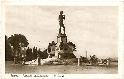 Firenze - Florence -Piazzale Michelangiolo - Il David - Italy Old Postcard VG