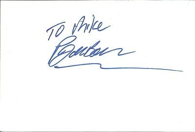 Paul De Boer Actor signed white card dedicated in person autograph Z2947