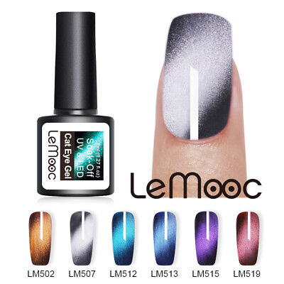 LEMOOC 8ml Cat Eye Wide Soak Off UV Gel Polish Nail Art Varnish Manicure Design