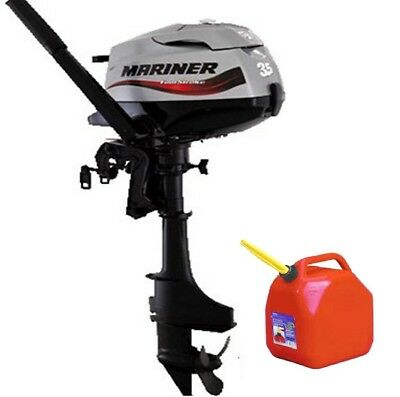 Mariner F 3.5 hp 4-Stroke Outboard Engine & 10 Litre Jerry Can