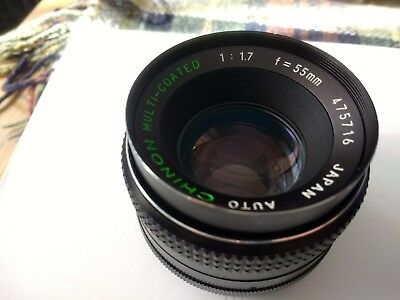 AUTO CHINON 1:1.7/55mm  Lens(M42 screw fit)
